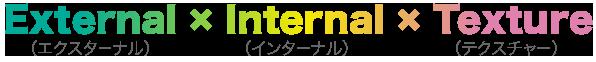 External × Internal × Texture